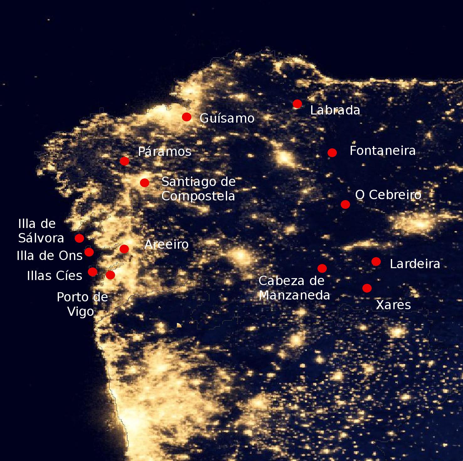 Galician Night Sky Brightness Monitoring Network - Salvador ...